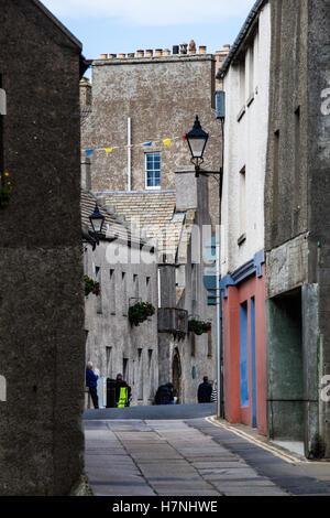 Kirkwall Street, Orkney - Stock Photo