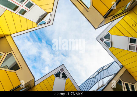 Cube houses designed by Piet Blom. They represents a village where each house is a tree. All the houses together - Stock Photo