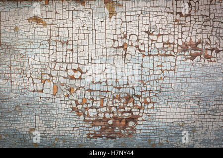 Peeling paint on the wall. Old wall texture wood texture, background, colorful, cracks in the paint, vintage, wall, - Stock Photo