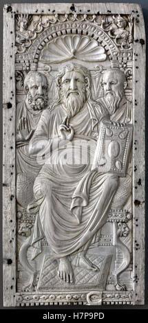 Christ Mary Diptychon middle 6th century  Constantinople Istanbul Turkey Turkish East Roman - Stock Photo
