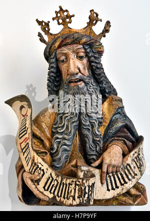 King David 1460 Oberschwaben Ulm German Germany ( David according to the Hebrew Bible, was the second king of the - Stock Photo