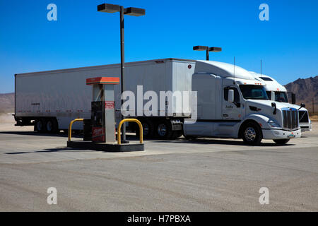 Amargosa Valley, Nevada - The Area 51 Alien Center at a gas station in the Nevada desert - Stock Photo