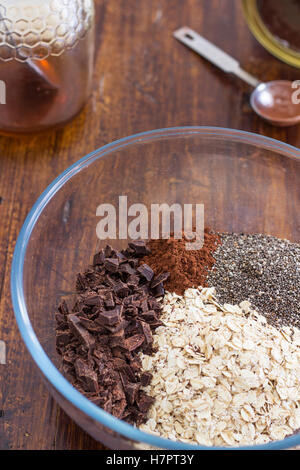 Homemade Chocolate Granola Ingredients - Stock Photo