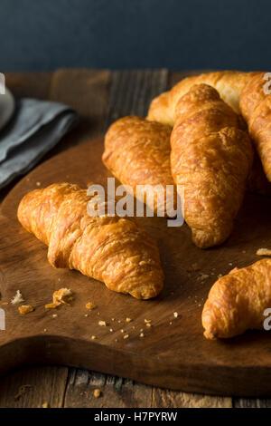 Organic Homemade Breakfast Croissants Ready to Eat - Stock Photo