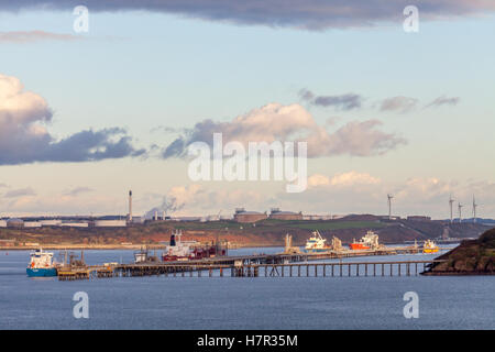 Milford Haven, Pembrokeshire, Oil and LNG terminals