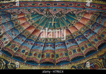 Detail of mosaic in the apse of the Basilica of Santa Maria Maggiore, Rome Italy. - Stock Photo