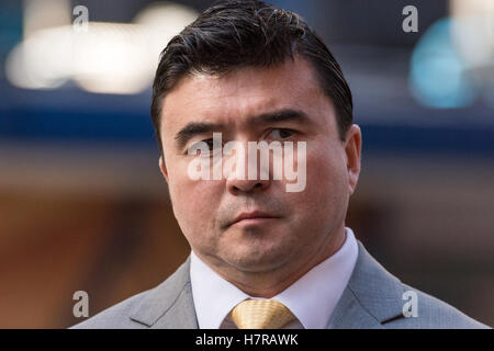 New York City, USA. 7th Nov, 2016. US Secret Service Agent in Charge David Beach speaks at the pres conference. - Stock Photo