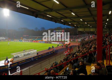 sports, football, Regional League West, 2016/2017, Rot Weiss Oberhausen vs Rot Weiss Essen 2:2, Stadium Niederrhein - Stock Photo