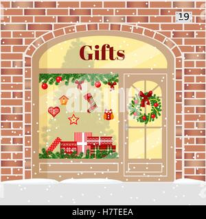 Christmas Gifts shop presents store . - Stock Photo