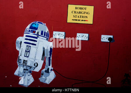 Star Wars robot graffiti - Stock Photo