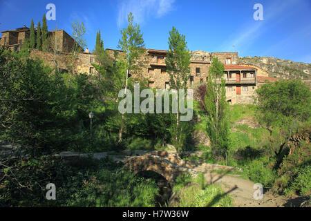Village of Patones de Arriba. Madrid's community. Spain - Stock Photo