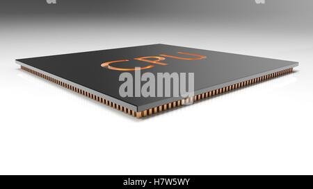 The 3d render Central Computer Processors CPU concept. technology background. High resolution - Stock Photo