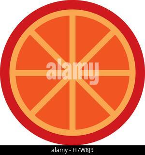 orange citrus fruit isolated icon vector illustration design - Stock Photo