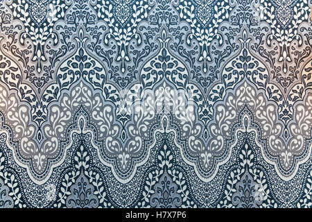Floral ornament. Black-and-white ornate floral ornament with lots of swirls and arcs. - Stock Photo