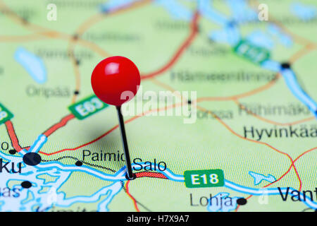 Finland pinned on a map of Europe Stock Photo 147767536 Alamy