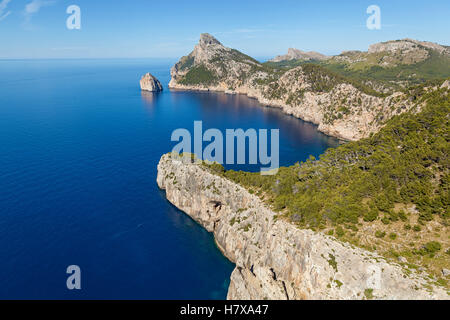 Cape Formentor on the north of Mallorca, one of the most beautiful islands of Spain. From the cape offers a great - Stock Photo