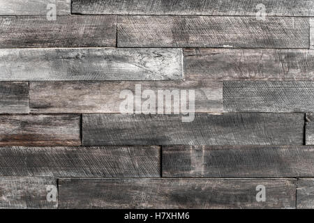 close up of wall made of wooden planks wood texture background old panels. - Stock Photo