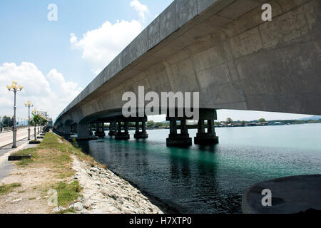 Sarasin bridge  linked Phuket Island to the mainland of Phang Nga Province.,Phuket Thailand - Stock Photo