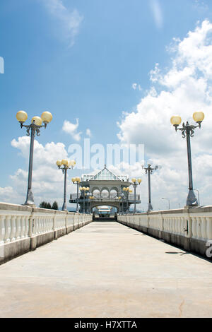 Sarasin bridge  linked Phuket Island to the mainland of Phang Nga Province.Phuket Thailand - Stock Photo