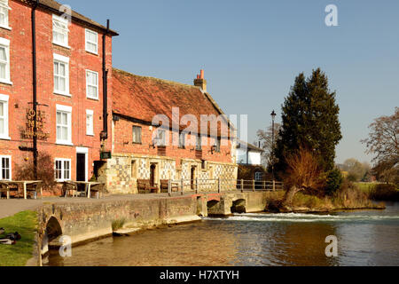 The Old Mill at Harnham. - Stock Photo