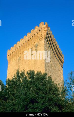 Castiglione del Lago, dungeon of the castle, Umbria, Italy - Stock Photo