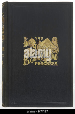 """Front Cover from 1899 edition of the novel """"The Innocents Abroad or The New  Pilgrims' Progress"""" by Mark Twain (1835 - Stock Photo"""