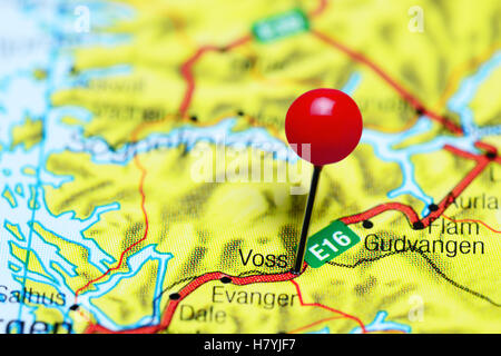 Voss Norway Stock Photo Royalty Free Image Alamy - Norway map voss