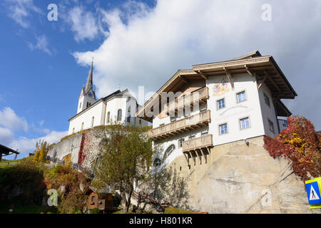 Kaprun: church, Pinzgau, Salzburg, Austria - Stock Photo