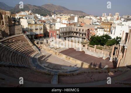 Roman theatre, Cartagena, Spain - Stock Photo