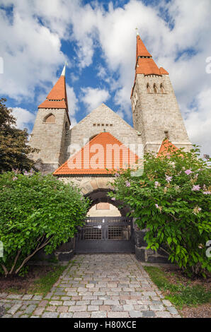 Famous landmark Tampere Cathedral, Finland. - Stock Photo