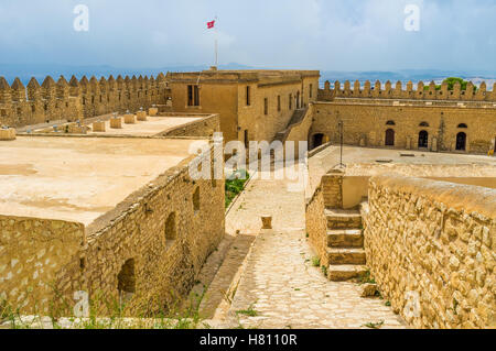 The large fortress in El Kef offers the best opportunities for discovering the medieval defensive architecture, - Stock Photo