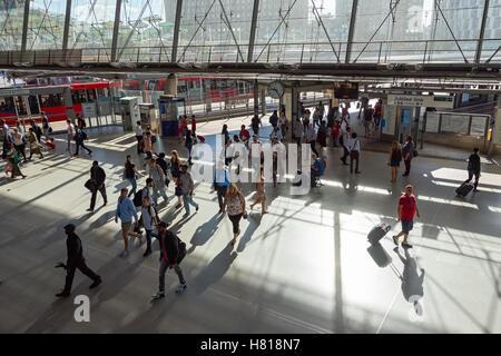 Stratford station during morning rush hour, London England United Kingdom UK