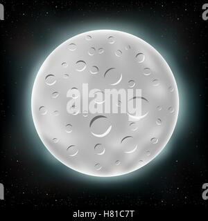 moon on space background - Stock Photo