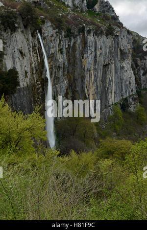 Ason river source, Collados del Ason, Cantabria, Spain, Europe - Stock Photo