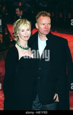 STING & TRUDIE STYLER BAFTA FILM AWARDS BAFTA FILM AWARDS LONDON ENGLAND 24 February 2002