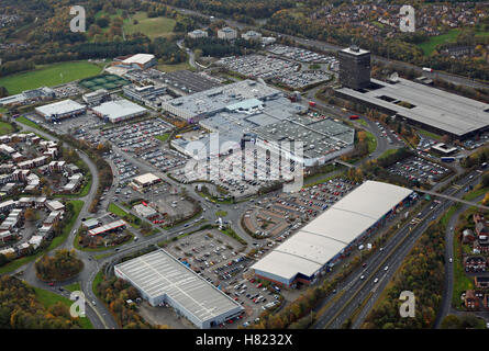 aerial view of Washington County Durham town centre and Galleries Shopping Centre, Tyne & Wear, UK - Stock Photo