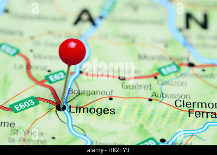 Limoges France On Map Stock Photo Alamy - Limoges france map