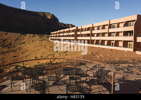 Arizona-Utah, Monument Valley Navajo Tribal Park, Visitor Center - Stock Photo