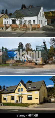 Vratislavice Nad Nisou, Czech Republic. 09th Nov, 2016. The process of reconstruction automobile designer Ferdinand - Stock Photo