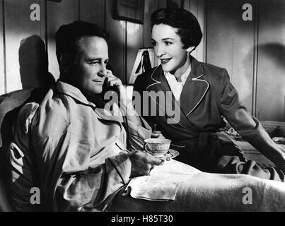Donovans Hirn, (DONOVAN'S BRAIN) USA 1953 s/w, Regie: Felix Feist, LEW AYRES + NANCY DAVIS Stichwort: Tasse, Telefon - Stock Photo
