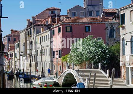 Venice Italy, Rio (Canal)  de la Sensa, Cannaregio - Stock Photo