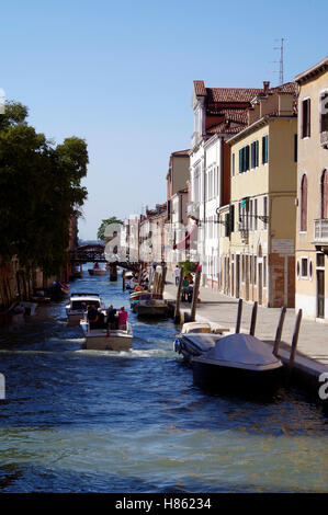 Venice Italy, View from Ponte Madone de l'Orto - Stock Photo