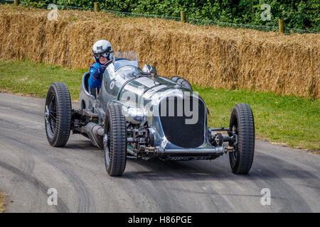 1933 Napier-Railton Special Brooklands racer with driver Allan Winn at the 2016 Goodwood Festival of Speed, Sussex, - Stock Photo