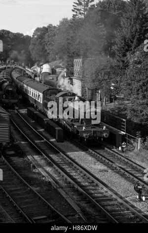 7822 Foxcote Manor on the North Yorkshire Moors Railway.Welsh Steam Gala - Stock Photo