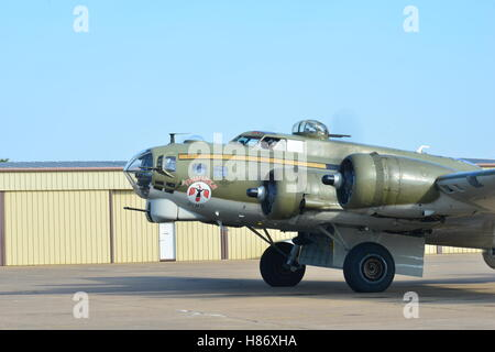 Boeing B-17 Flying Fortress....Thunderbird. The most original flying Fortress in the world retaining its full wartime - Stock Photo