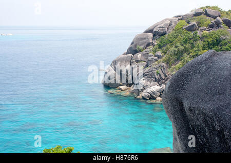Beautiful tropical sea view in Thailand,Similan island - Stock Photo
