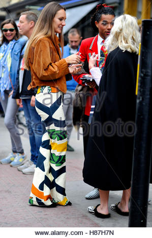 After Mother Of Pear fashion show,l on Commercial Street London E1 UK 17 September 2016. - Stock Photo