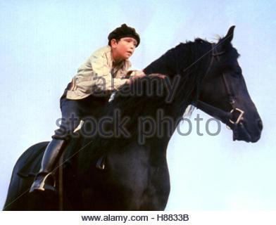 Der schwarze Hengst, (THE BLACK STALLION) USA 1979, Regie: Carroll Ballard, KELLY RENO, Stichwort: Pferd, Reiter - Stock Photo