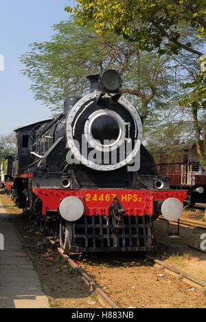old steam locomotive train at Delhi railway station India ...