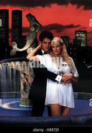 Splash - Jungfrau am Haken, (SPLASH) USA 1984, Regie: Ron Howard, TOM HANKS, DARYL HANNAH, Stichwort: Paar, Brunnen - Stock Photo